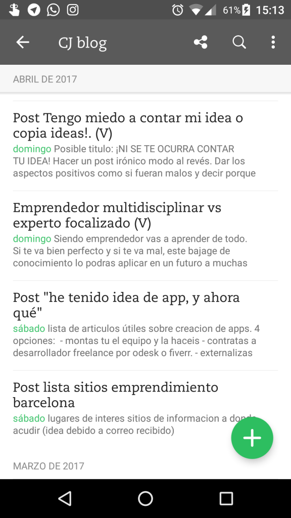 ejemplo captura evernote